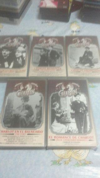 vhs coleccion charlot coleccionista vintage