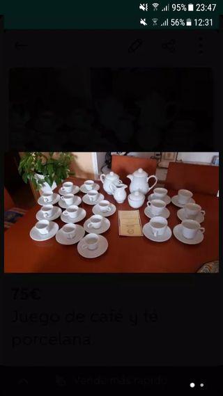Juego de té y café de porcelana
