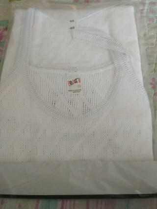 Camiseta interior de señora talla 48