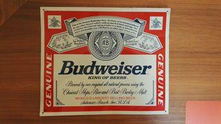 Placa Metálica Budweiser