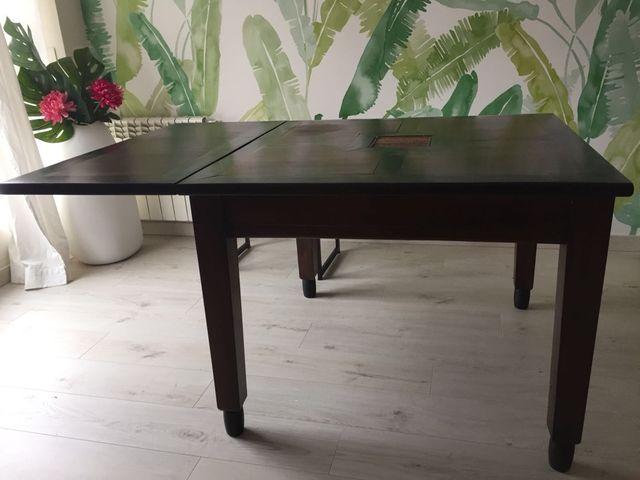 Mesa comedor madera maciza 100x100 de segunda mano por 140 € en ...