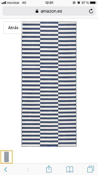 Alfombra Rayas azul y blanco