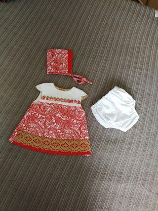 Vestido niña. 0-3 meses. NUEVO.