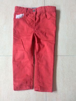 Pantalón niña de verano rojo