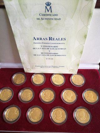 Monedas Arras Reales de Oro y Plata
