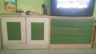 mueble con 2 lejas