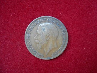 Moneda 1 penique 1919 Gran Bretaña