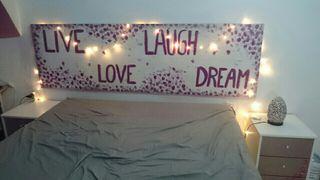 Dormitorio matrimonio completo mesitas comoda