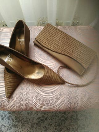 zapatos fiesta y bolso a juego