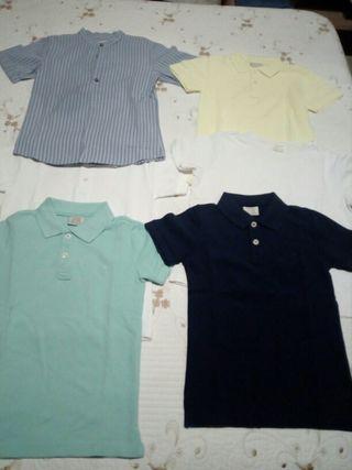 lote polos y camisetas talla 5-6 años