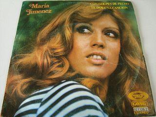 MARIA JIMÉNEZ -.CON GOLPES DE PECHO- SINGLE VINILO