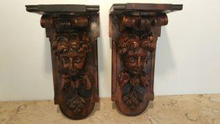 ménsulas madera tallada