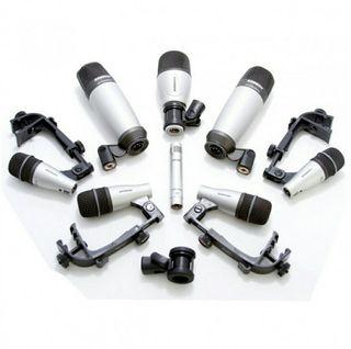 Set 8 micrófonos bateria Samson