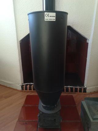 estufa de biomasa.