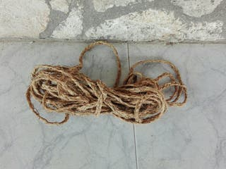 Cuerda trenzada artesanal de esparto