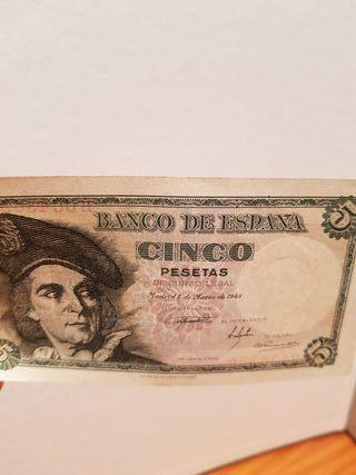 BANCO DE ESPAÑA . 5 PESETAS