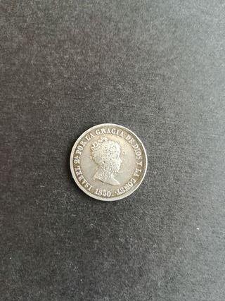 2 reales Isabel II 1850 (plata)