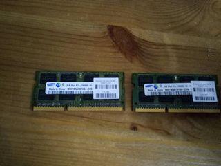 Memorias Ram 2GB x 2 . PC3-10600S DDR3