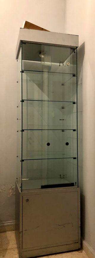 Vitrina expositora de cristal medidas 1,85x50