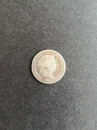 2 reales Isabel II 1857 (plata)