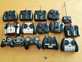 lote compuesto de 15 mandos de radiocontrol. infra