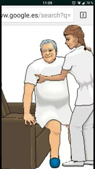 cuidadora auxiliar de clinica responsable