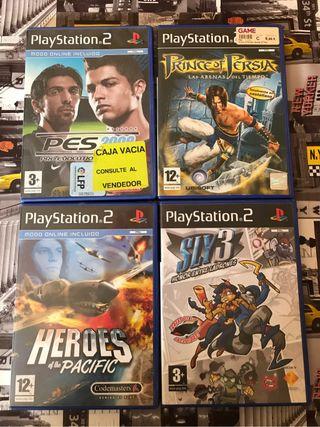 Pack 4 juegos ps2