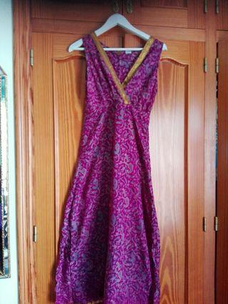vestido talla m Indio de seda
