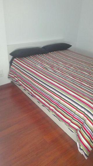 Cama canapé + colchón viscoelástico