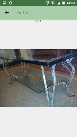 mesa cromada de forja