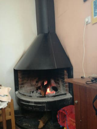 chimenea metálica rinconera