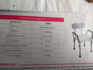 Silla ortopedia bañera/ducha