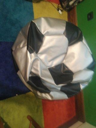 puff forma balon de futbol