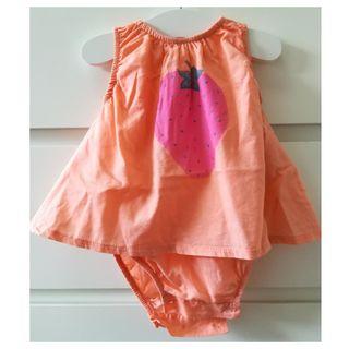 Vestido Zara 0-6 meses 68 cm