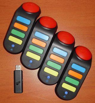 Pulsadores inalámbricos Buzz! - Buzzers, PS2 PS3