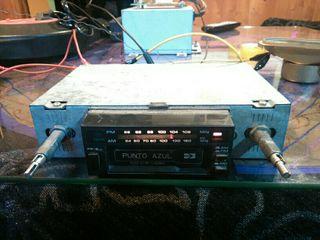 radio cassette punto azul