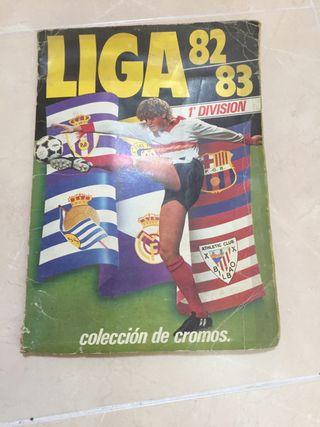 Album cromos liga 82/83