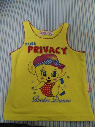 camiseta tirante bebe