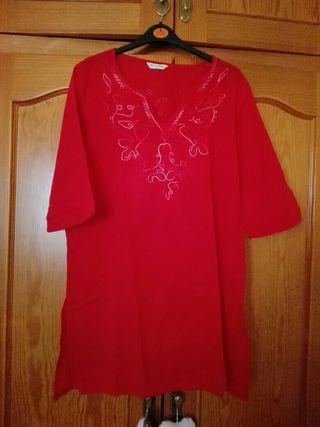 camisa roja talla m