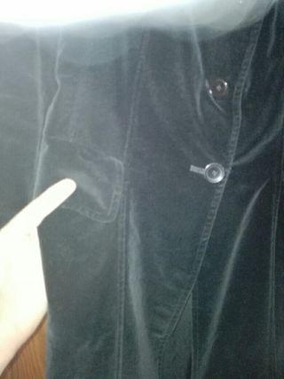 chaqueta negra de terciopelo talla. s