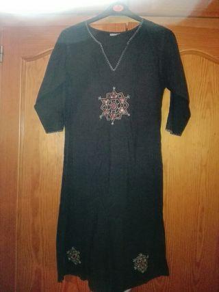 vestido indio negro talla m