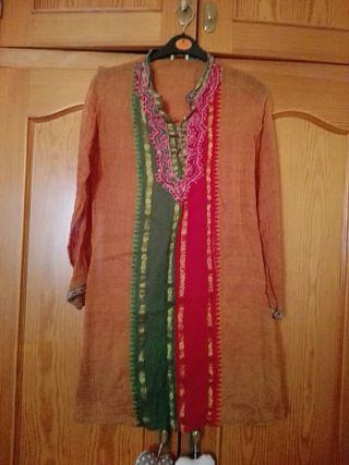 camisa-vestido indio talla m