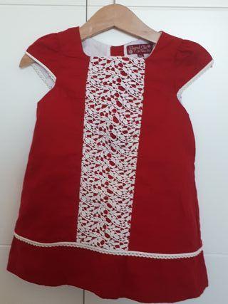 Vestido niña Mayoral rojo