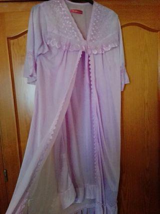 conjunto camisón color lila talla m