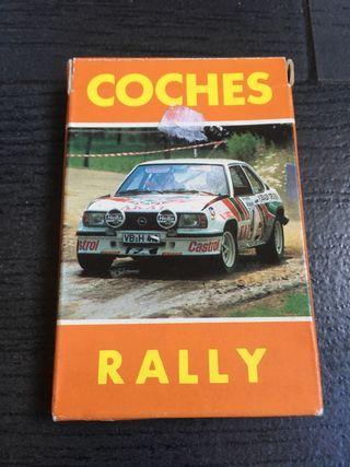 Juego antiguo de cartas baraja coches rally heraclio