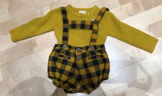 Camisa y peto bebé Gocco 6-9 meses