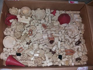 Gran lote de piezas Exin Castillos