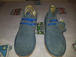 zapatos azules talla 34