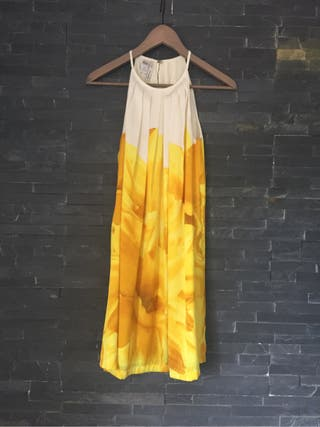 Vestido camisero mango