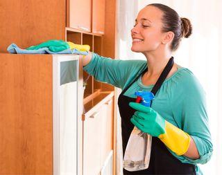 Chica cuidadora externa niños y mayores /limpieza